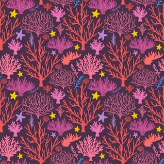 Coloured trees pattern