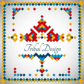 Coloured tribal design