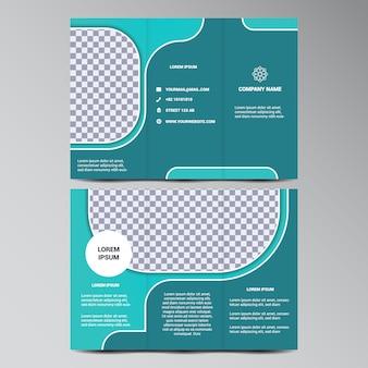 Coloured trifold design