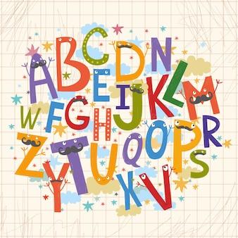 Coloured typography design