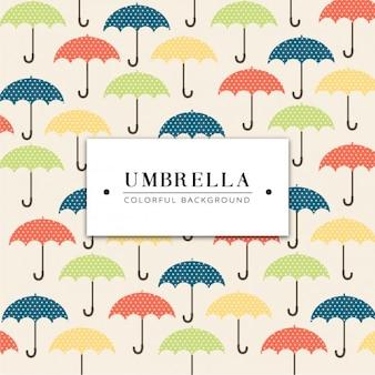 Coloured umbrella background design
