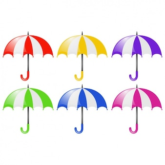 Coloured umbrellas collection