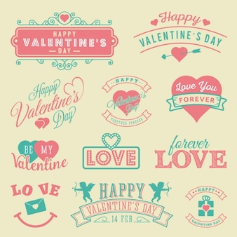 Coloured valentine's day designs