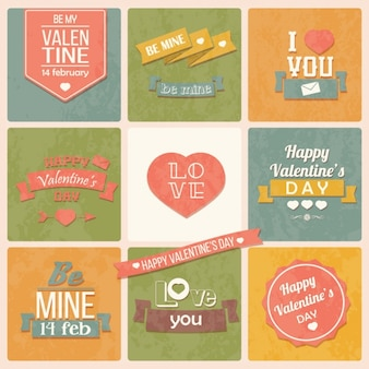 Coloured valentine's day designs