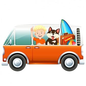 Coloured van design