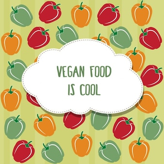 Coloured vegan background
