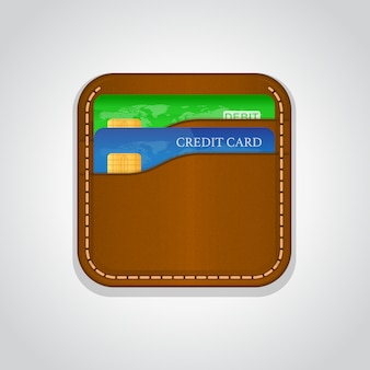 Coloured wallet design