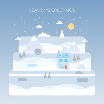 Coloured winter background