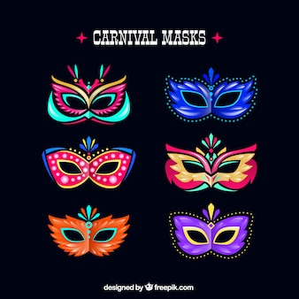 Colourful carnival masks
