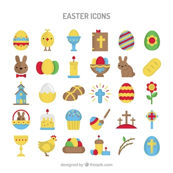 Colourful Easter icons
