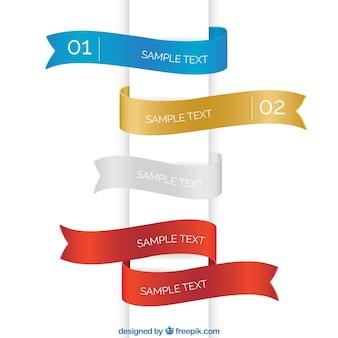 Colourful ribbon templates
