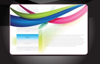 Colourful web design page template elements