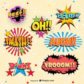 Comic book free vectors