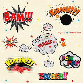 Comic book vector art free