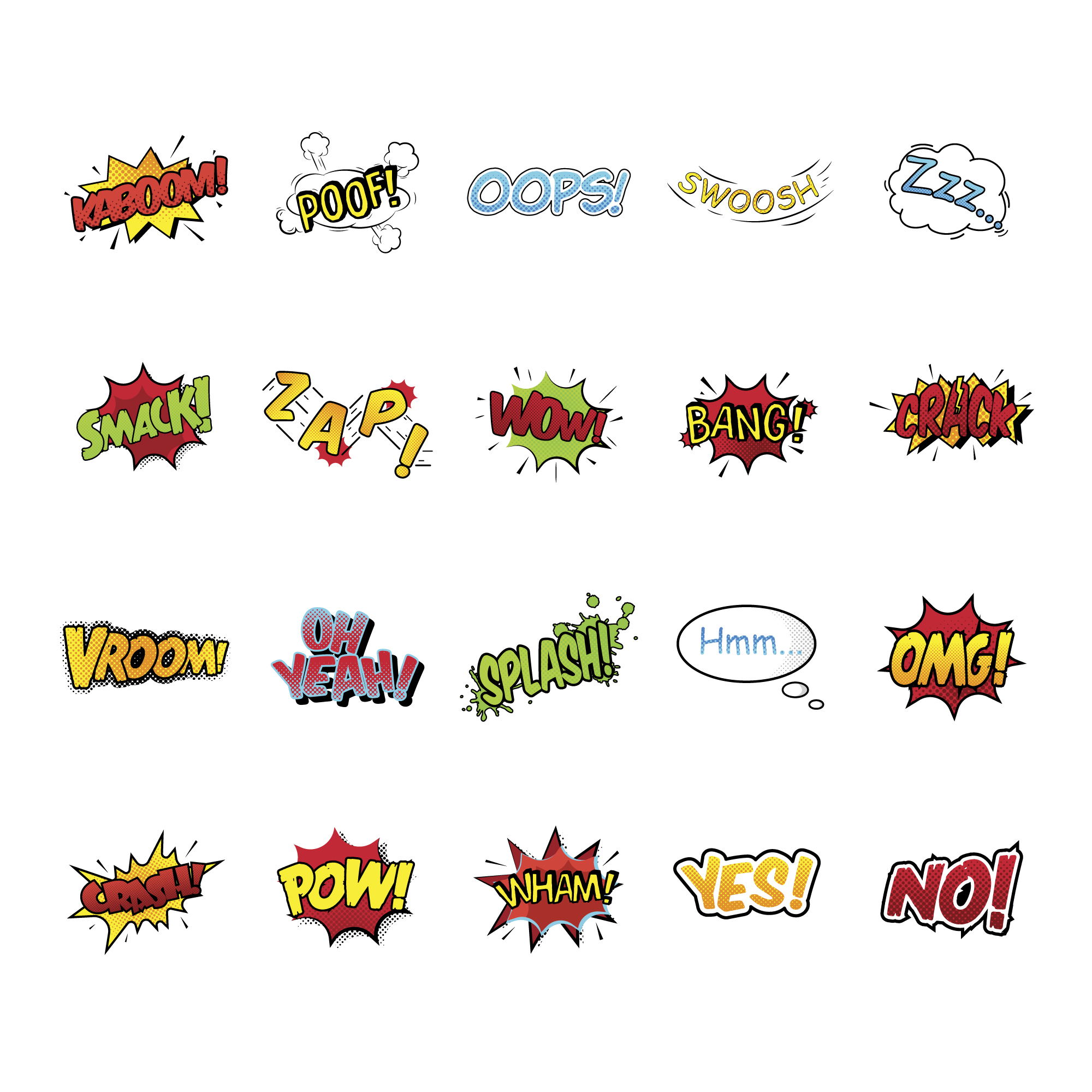 Comic expressions collection