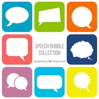 Comic speech bubble collection