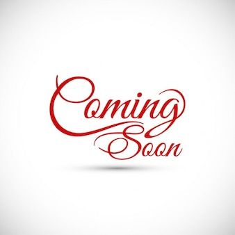 Coming soon text design