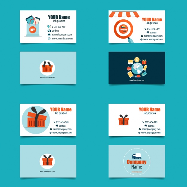 Commercial business card collection