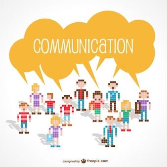 Communication avatars made of little squares