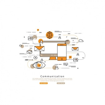Communication background design