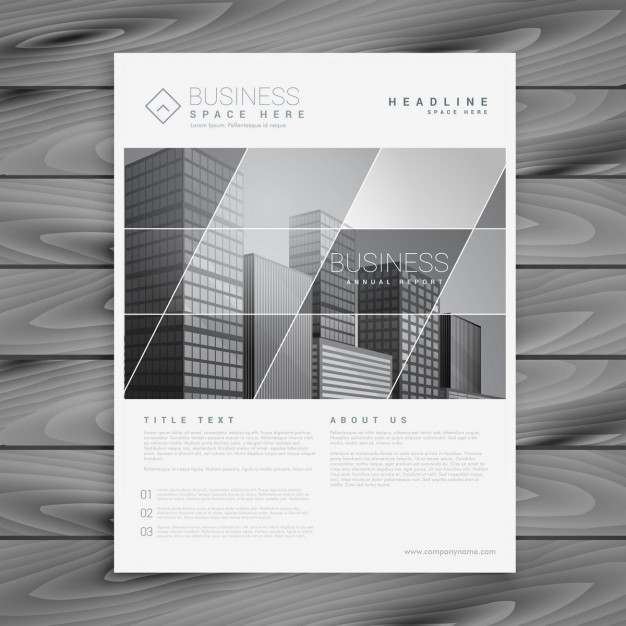 Company brochure in a stylish design