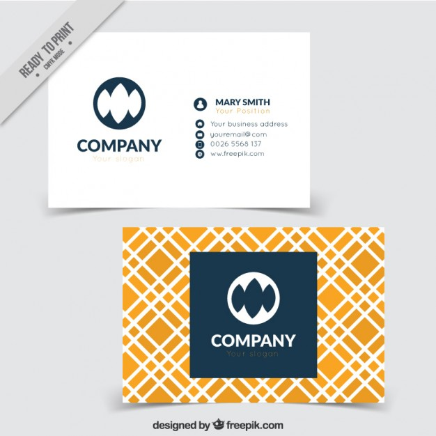 Company card in abstract style