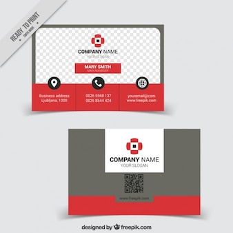 Company card in modern style
