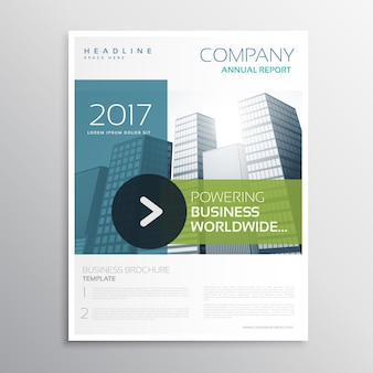 Company design template in clean modern style