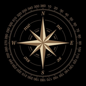 Compass on a black background