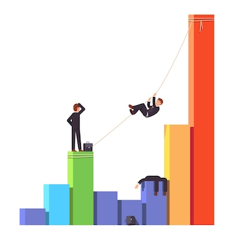 Competitor is dead. Business risks concept