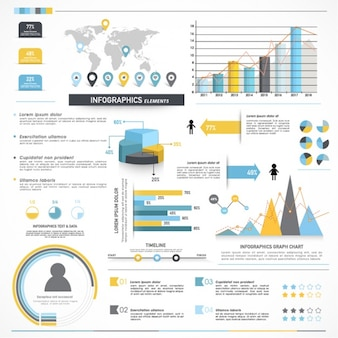 Complete infographics with different sections