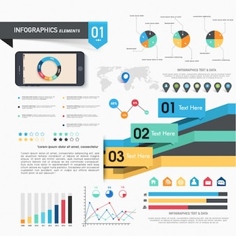 Complete infographics with multiple elements