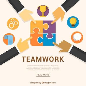 Concept about teamwork
