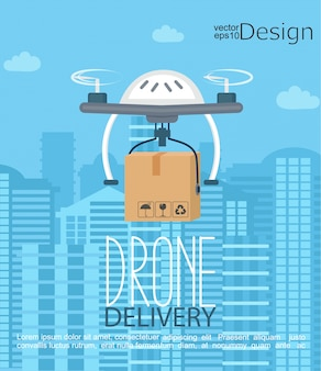 Концепция доставки беспилотным летательным аппаратом.