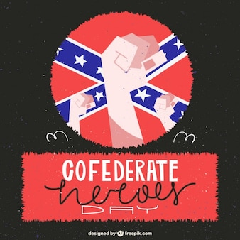 Confederate heroes day illustration background