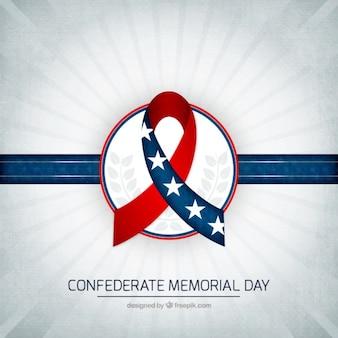 Confederate memorial day ribbon