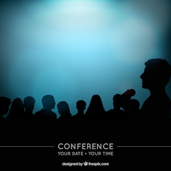 Conference silhouettes