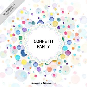 Confetti background in watercolor style