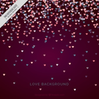 Confetti background of hearts