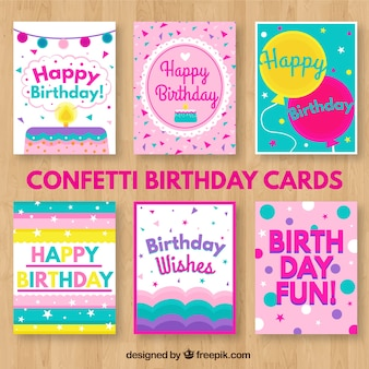 Confetti birthday cards