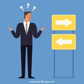 Confused businessman character