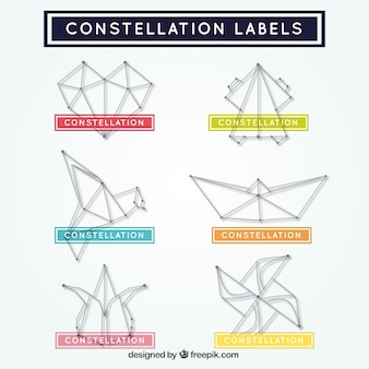 Constellation abstract shapes stickers