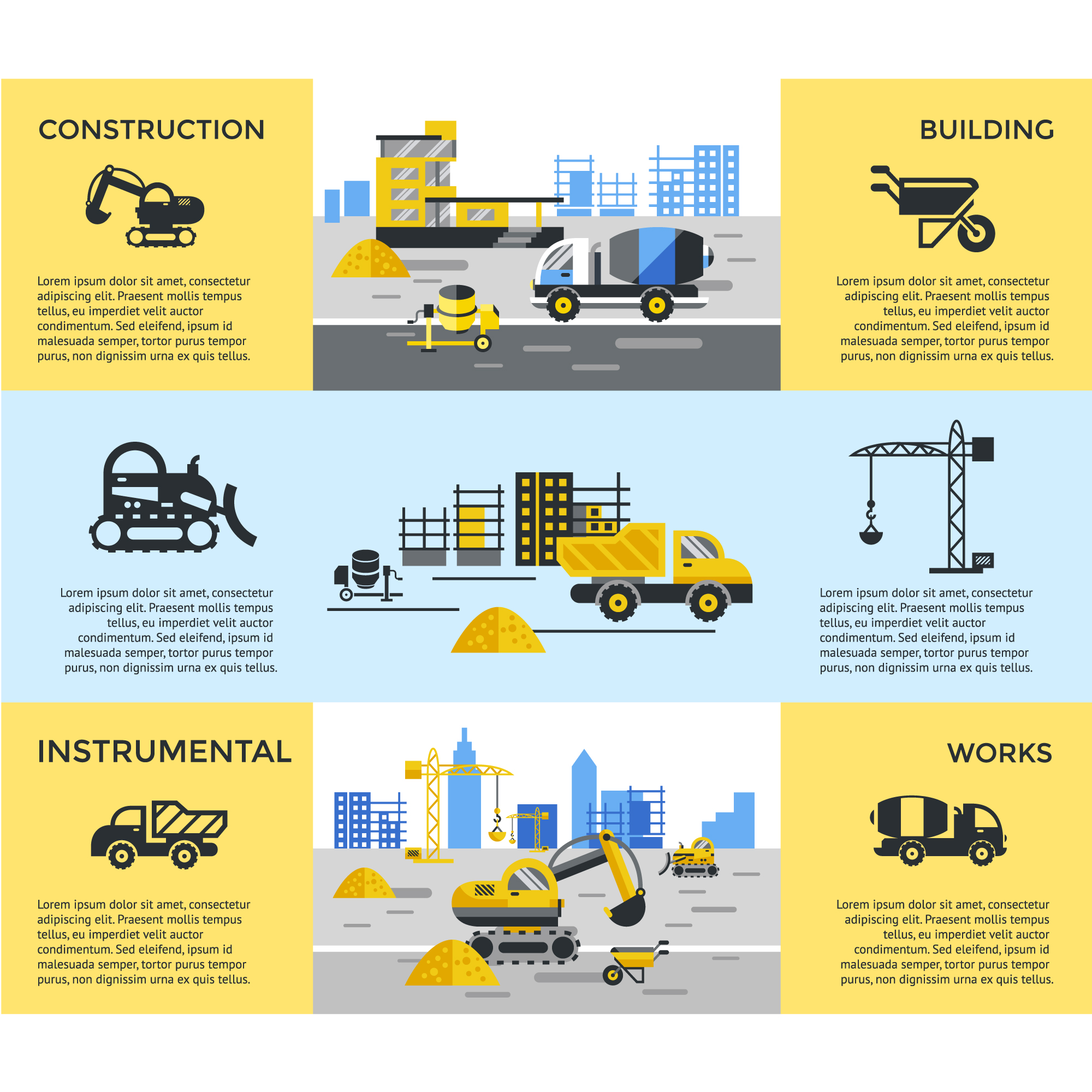 Construcction banners collection