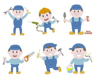 Construction characters collection