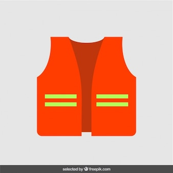 Construction jacket in flat design