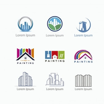 Construction logo collection