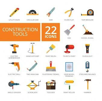 Construction tools icons collection