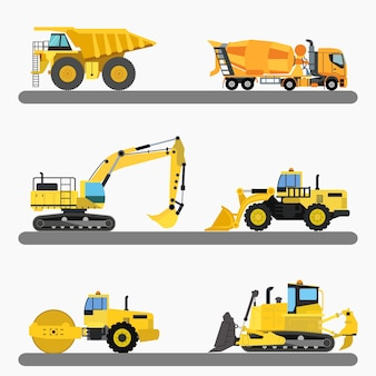 Construction trucks collection