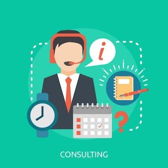 Consulting background design