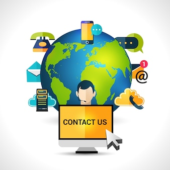 Contact us background design